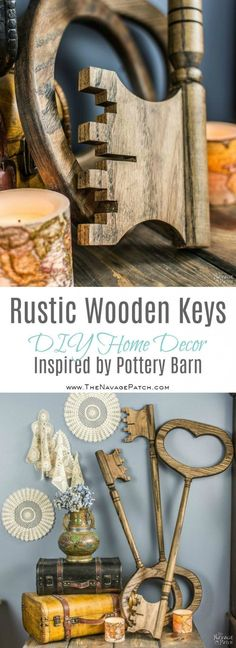 Rustic Wooden Keys Inspired by Pottery Barn | Pottery Barn Knockoff | DIY Wooden Keys Wall Art | How to Make Rustic Wooden Keys | Simple Woodworking and Crafts | Farmhouse Style Home Decor | Easy and Budget Friendly Crafts | TheNavagePatch.com