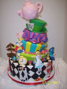 Alice in Wonderland cake <3