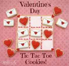 valentine tic tac toe cookies by melissa joy cookies