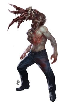 Inspired by my beloved horror games Arte Zombie, Creature Concept Art, 3d Drawings, Story Inspiration, Macabre, Drawing Reference, Cool Art, Sculptures, Creatures