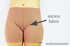 Learn how to adjust the crotch in pants for a perfect fit! Simple pattern alterations avoid pulled or baggy fabric along your bum or crotch curves. Dress Sewing Patterns, Sewing Patterns Free, Clothing Patterns, Shirt Patterns, Sewing Pants, Sewing Clothes, Doll Clothes, Dress Tutorials, Sewing Tutorials