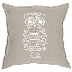 White Owl Cushion Cover