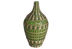 Green Seagrass Vase, Tall  THREE HANDS