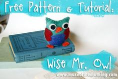 Free Pattern & Tutorial: Wise Mr. Owl - Muse of the Morning Crafty Kits, Wool Felt & PDF Sewing Patterns