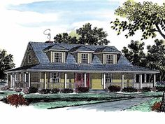 Farmhouse House Plan with 2190 Square Feet and 4 Bedrooms(s) from Dream Home Source | House Plan Code DHSW08969