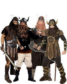 Disfraz de grupo tribu vikinga: Disfraz vikingo Deluxe hombreEste maravillosodisfrazderey vikingopara hombre incluye pantalón, camiseta, calentadores, manguitos, cinturón y casco (peluca, lanza...