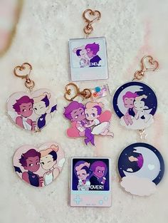 Your place to buy and sell all things handmade Cute Keychain, Keychains, Chibi, Character Art, Character Design, Artist Alley, Idee Diy, Acrylic Charms, Cute Charms
