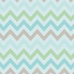 Interesante tela Chevron en colores gris, verdes y azules