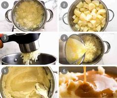 KFC Potato and Gravy is famous for the soft, creamy mashed potato and their signature gravy. Now here's a recipe to make it at home - it's incredible! Kfc Chicken Recipe, Homemade Fried Chicken, Baked Chicken Recipes, Potato Recipes, Juicy Baked Chicken, Baked Chicken Breast, Slow Cooked Lamb Leg, Kfc Mashed Potatoes, Recipe Tin