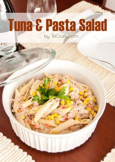 Tuna Pasta Salad Recipe #saladrecipe #barilla #Barillalovesmoms #ad #sponsored #tunasalad