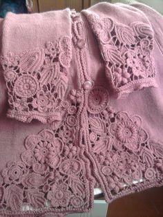 Knit and freeform crochet Crochet Coat, Crochet Jacket, Cotton Crochet, Crochet Cardigan, Crochet Shawl, Crochet Clothes, Irish Crochet Patterns, Poncho, Freeform Crochet