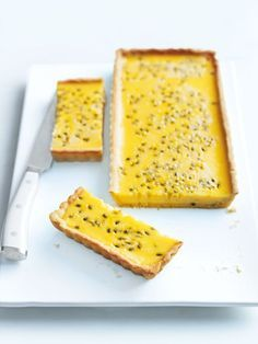passionfruit tart from donna hay