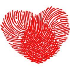 Basteln mit Fingerabdruck Herz