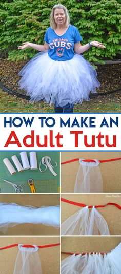 How to Make an Adult Tutu Tutorial - Want to make a Halloween tutu? Make an Adult Tutu with this simple tutorial. Great as part of a Halloween Costume or Pokemon Outfit or Cosplay Costume fun.