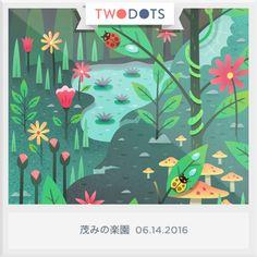 茂みの楽園でテントウクリスタルを見つけたよ!君もできるかな? - playtwo.do/ts #TwoDots