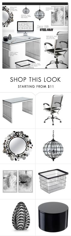 """""""WORK HARD: HOME OFFICE"""" by larissa-takahassi ❤ liked on Polyvore featuring Eurø Style, Artisan House, Frontgate, Tela Beauty Organics, NOVICA, Dunhill, home office and homeoffice"""
