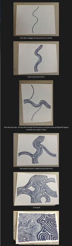 Undu. Tangle Pattern by Daniel Lamothe / The Tangle Corner.