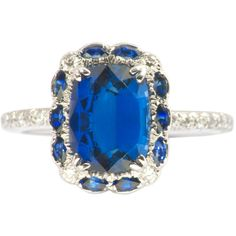 1STDIBS.COM Jewelry & Watches - Magnificent Sapphire Ring - Galerie... ❤ liked on Polyvore