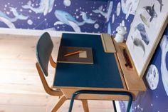 POKÓJ CHŁOPCÓW: METAMORFOZA BIURKA DIY - conchitahome.pl Ocean Themed Nursery, Nursery Themes, Poker Table, Diy, Furniture, Home Decor, Decoration Home, Bricolage, Room Decor