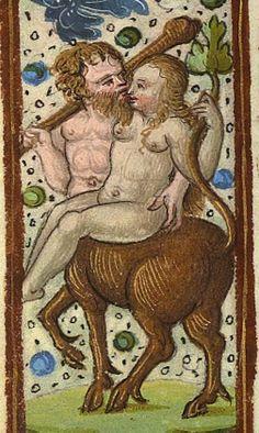 #Centaur on his way home from a hunt. Heures d'Antoine le Bon, duc de Lorraine, exécutées en 1533
