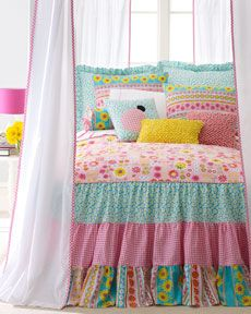 turquoise and pink bedding