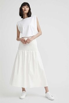 Shirred Cotton Skirt | View All