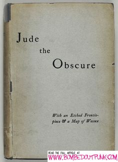 The first edition of Hardy's Jude The Obscure.