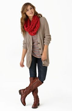 You can NEVER go wrong with a cute cardigan, jeans and boots. THIS is my style almost exactly.