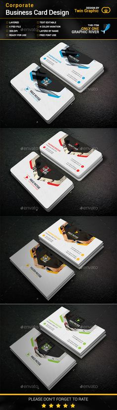 Corporate Business Card Design. - Business Cards Print Templates
