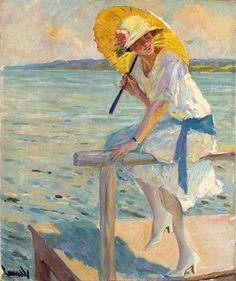 Edward Alfred Cucuel (1875-1954) | Нить золотая, солнечная нить... Сплетается на…
