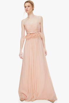 Vestido seda peplum - Vestidos | Adolfo Dominguez shop online
