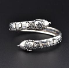 Antique Victorian Silver Bypass Bracelet Cuff #Bracelet #Victorian #Silver #Antique #Cuff #Sterling #Gate #Gold #Dress #Online