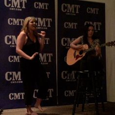"Short clip of Lauren Alaina singing ""My Kind of People"" when Lauren and Emily were invited to the CMT to share their new songs. (April 7,2015)"