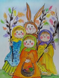 Postcrossing postcard from Finland Funny Illustration, Illustrations, Fall Projects, Doll Eyes, Winter Art, Whimsical Art, Easter Crafts, Rock Art, Art For Kids