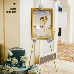 LovePlus Studio: #wedding #WelcomeBoard designed in newlyweds' #CartoonCharacters
