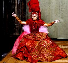 """Madonna in Christian Lacroix """"The Beast Within"""" that opened The Reinvention Tour.  AMAZING"""