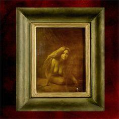 Foto-grafický obraz Vlasy 2 Obraz je vytvořený technikou příbuznou olejotisku, kterou používal např. František Drtikol, náš světoznámý fotograf. Zhotoveno na šepsovaném sololitu, na kterém je nanesena želatina, ansycená svělocitlivou látkou. Předloha, zhotovená v PC Rozměry rámu: 39 x 33 cm Formát obrazu: 25 x 18 cm