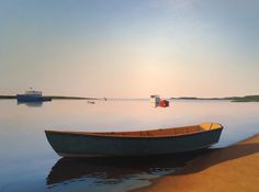 "Jim Holland, ""Sunrise Calm, Green Dory"""