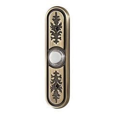 Nutone Antique Brass Textured Lighted Pushbutton | from hayneedle.com