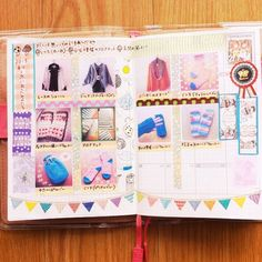 ○△○△○ 使わないページを 「2013年あきふゆに編んだものまとめ」にしました。  #ほぼ日手帳  #ほぼ日 #hobonichi #日記 #diary #手帳 #マスキングテープ #マステ #maskingtape #Padgram