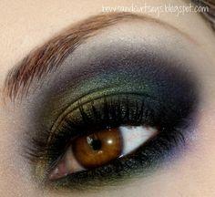 Wonderful green and violet make up