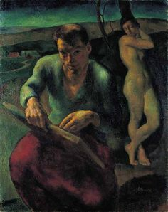 Szőnyi, István - Self portrait, 1919 Two Faces, Painting & Drawing, Oil On Canvas, Fine Art, History, Gallery, Drawings, Budapest, Hungary