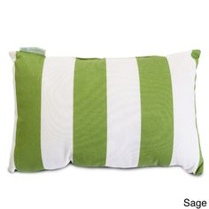Complement your home decor with this striped small pillow from Majestic Home Goods. This pillow features UV protection polyester fabric and a super plush fiber filling. Available in four color options, this versatile piece is also machine washable.