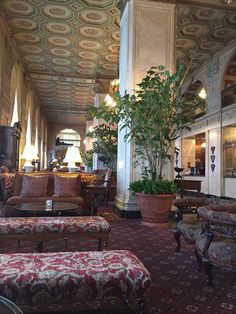Lobby of the Brown Hotel
