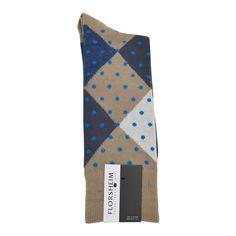Florsheim Argyle Dot Socks in Khaki