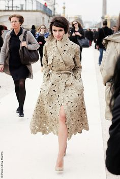 Valentino coat at Paris fashion week