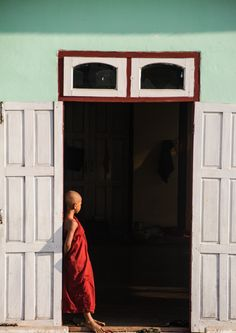 novice monk at monastery in Nyaung Shwe, Myanmar