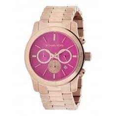 Michael Kors Runway Oversize Rose Gold-Tone Chronograph Ladies Watch MK5931