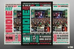 Indie Fest Flyer Template V2 | The Hungry JPEG