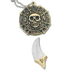 Pirate Coin Knife Necklace.